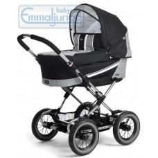 Спальная коляска Emmaljunga Edge Duo Combi Silver Check