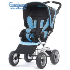 Прогулочная коляска Emmaljunga scooter carbon blue